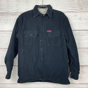 Dickies Black Micro Fleece Quilted Shirt Jacket